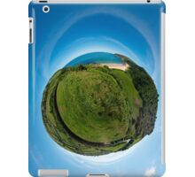 Kinnagoe Bay (as a floating green planet) iPad Case/Skin