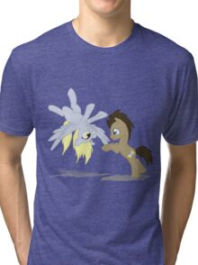 Derpy and Doctor Whooves Tri-blend T-Shirt