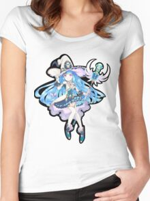 Cute Anime Magic Girl Women's Fitted Scoop T-Shirt