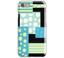 Blue collage iPhone Case/Skin