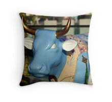 Cow Parade - Shirt Factory Horn, Derry Throw Pillow