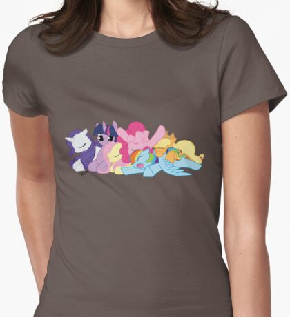 Sleepy Ponies Womens Fitted T-Shirt