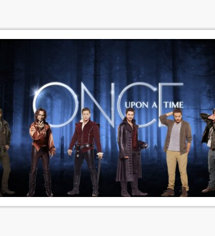 Our Handsome Men from Once Upon A Time Sticker