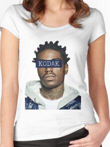 KODAK BLACK - KODAK Women's Fitted Scoop T-Shirt
