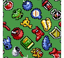 Legend of Zelda A Link to the Past / items 2 / pattern / green Photographic Print