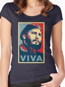 Viva Fidel Castro Women's Fitted Scoop T-Shirt