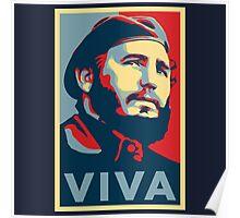 Viva Fidel Castro Poster