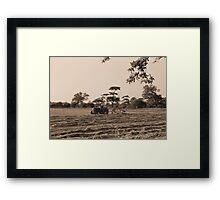 Vintage Farming Framed Print