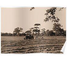 Vintage Farming Poster