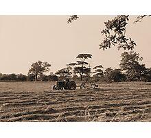 Vintage Farming Photographic Print