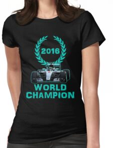 Rosberg 2016 World Champion F1 Formula 1 Womens Fitted T-Shirt