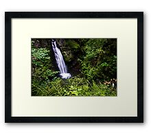Amazing Waterfall - Travel Photography Framed Print