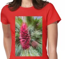 Abstract Christmas - Pine Cones and Needles Burst Womens Fitted T-Shirt