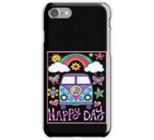 Peace Bus - Happy Day Graphic T-Shirt & Gear iPhone Case/Skin