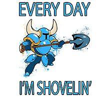 Shovel Knight - Every Day I'm Shovelin' Photographic Print