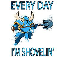 Shovel Knight - Every Day I'm Shovelin' Photographic Print