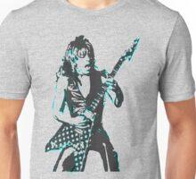 Blue Randy Rhoads Unisex T-Shirt