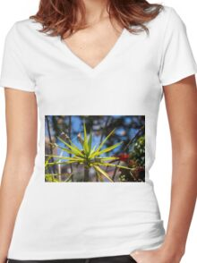 Spike Plant - Nature Photography  Women's Fitted V-Neck T-Shirt