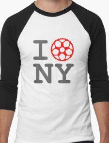 I Bike NY - New York Bicyclist Men's Baseball ¾ T-Shirt