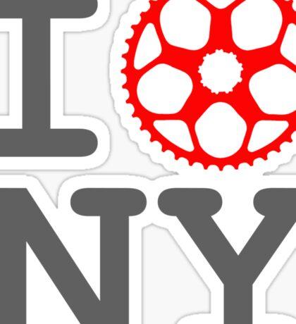 I Bike NY - New York Bicyclist Sticker