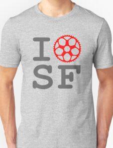I Bike SF - San Francisco Bicyclist T-Shirt