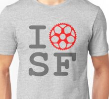 I Bike SF - San Francisco Bicyclist Unisex T-Shirt