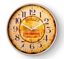 041 Wall Clock Trolley London Clock