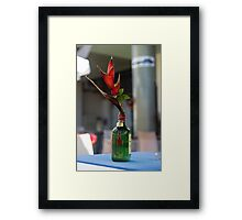 Red Heliconia/Birds of Paradise Flower - Nature Photography Framed Print