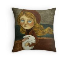 The Expedition - Journey for a Rabbit Friend Throw Pillow