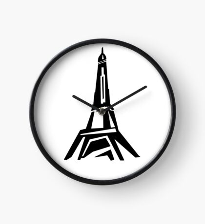Eiffel Tower - Minimalist Design Clock