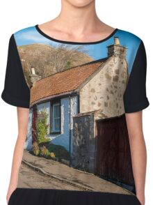 Cottages in Central Scotland Chiffon Top