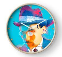 043 Wall Clock Portuguese poet Fernando Pessoa Clock