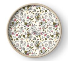 Floral White Clock