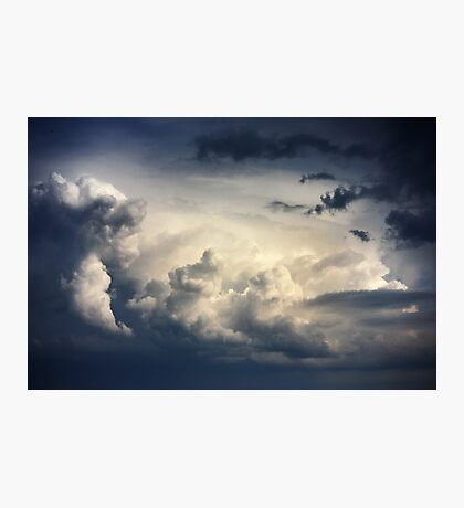 Dramatic sky with stormy clouds  Photographic Print