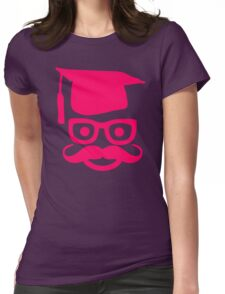 Genius Mustache Womens Fitted T-Shirt