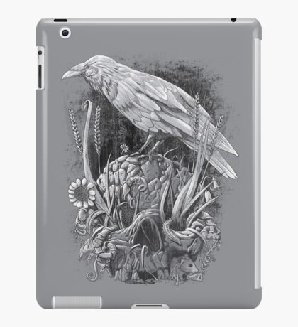 White Raven iPad Case/Skin