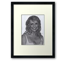 Blonde Amanda Tapping Framed Print