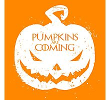 Pumpkin Are Coming Photographic Print