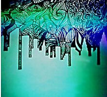 Graphic New York City Skyline by Dream-in-colour