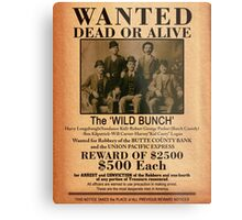 The Wild Bunch Wanted Poster Metal Print