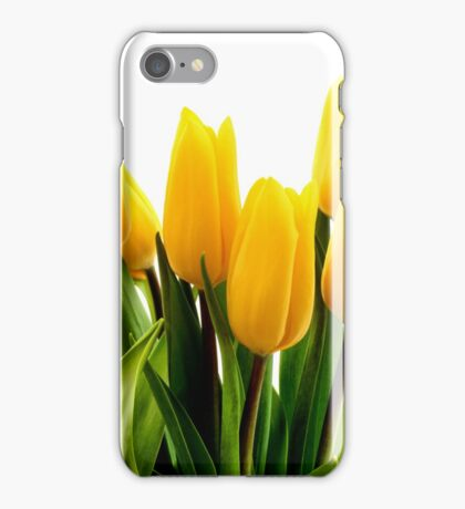 Fresh Yellow Tulips iPhone Case/Skin