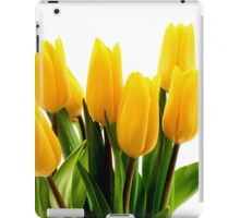 Fresh Yellow Tulips iPad Case/Skin