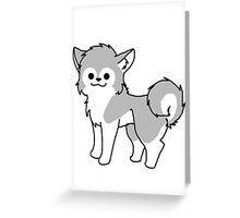 Chibi Husky Greeting Card