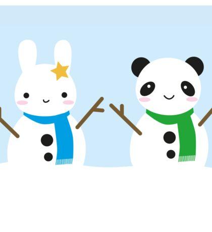 Snow Bunny & Snow Panda Sticker