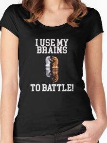Chess - I use my Brains to Battle. Women's Fitted Scoop T-Shirt