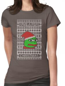 Pepe Christmas Womens Fitted T-Shirt