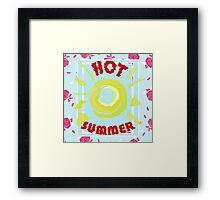 Summer graphic print Framed Print