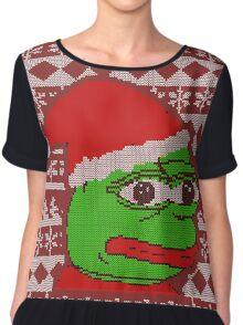 Pepe Christmas Chiffon Top