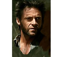 Hugh Jackman Wolverine digital painting (2) Photographic Print