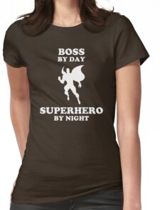 Superhero Comedy Womens Fitted T-Shirt